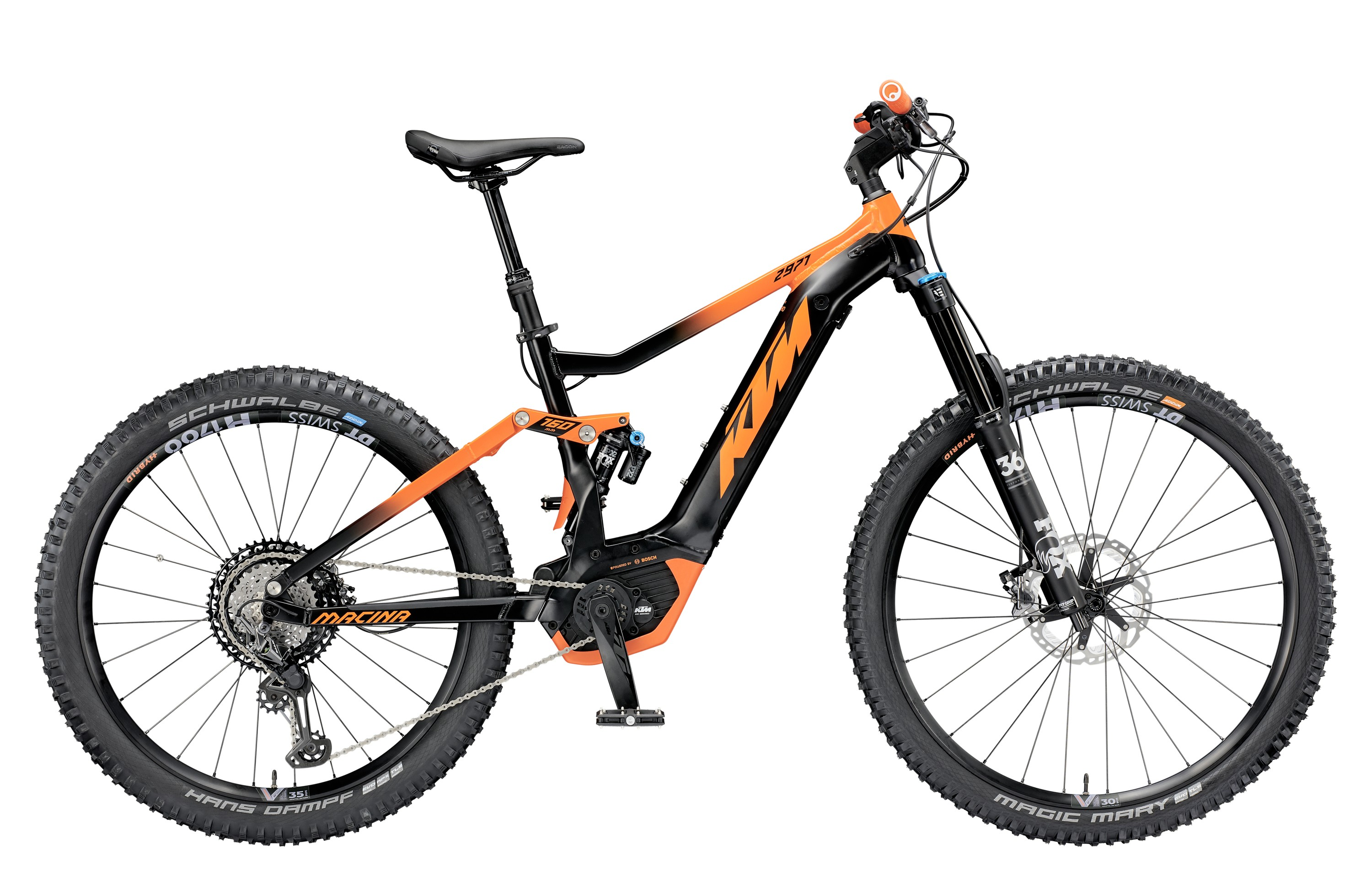 "KTM Macina Kapoho 2971 2019 - S / 43cm (17"") / 2019 / black matt / orange / Pánský 799405100"
